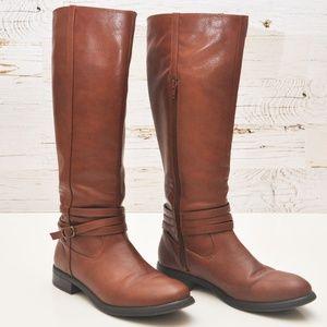 Lauren Conrad Hunter Cognac Boots